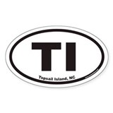 Topsail Island TI Euro Oval Decal