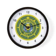 Funny Grappling Wall Clock