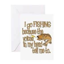 Fish - Voices in my head Greeting Card