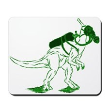 Dino Mask - green Mousepad