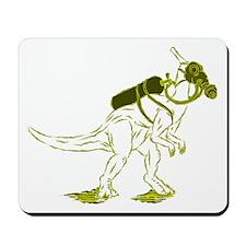 Dino Mask - yellow Mousepad