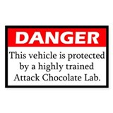 Attack Chocolate Lab Decal