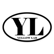 YL Abbreviation Yellow Lab Decal