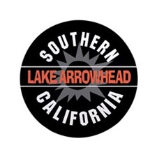 "Lake Arrowhead California 3.5"" Button"
