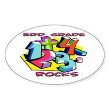 Numbers 3rd Grade Oval Decal