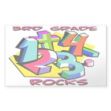 Numbers 3rd Grade Rectangle Sticker 50 pk)