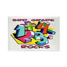 Numbers 3rd Grade Rectangle Magnet (10 pack)