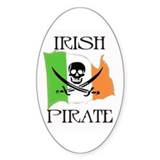 Irish Pirate Flag Oval Decal