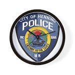 Henning Police Wall Clock