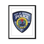 Henning Police Framed Panel Print