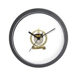 SAUCIER Family Crest Wall Clock