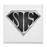 SuperSis(metal) Tile Coaster