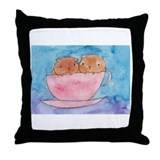 Teacup Cavys Throw Pillow