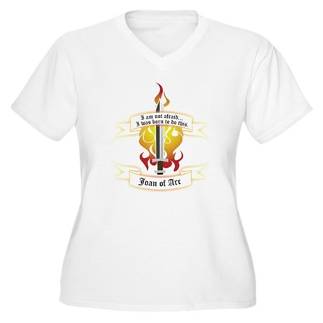 Joan of Arc - Born to Do This Women's Plus Size V-