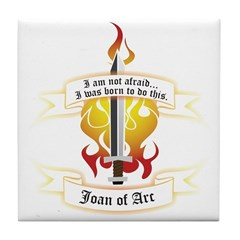 Joan of Arc - Born to Do This Tile Coaster
