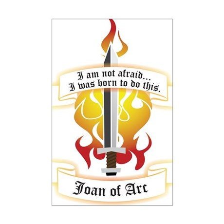 Joan of Arc - Born to Do This Mini Poster Print