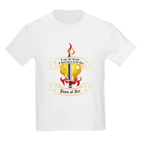 Joan of Arc - Born to Do This Kids Light T-Shirt