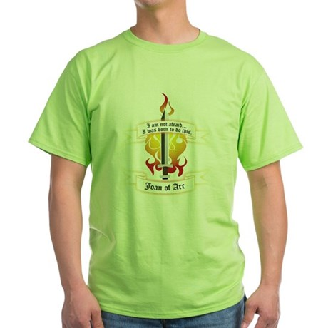 Joan of Arc - Born to Do This Green T-Shirt