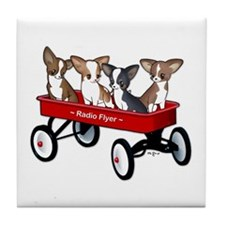 Radio Flyer Chihuahuas Tile Coaster