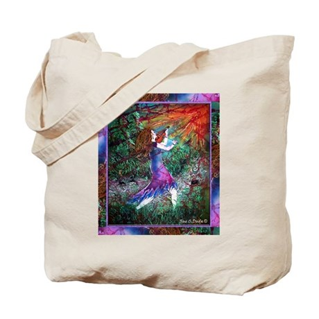 Fiddling Woman Tote Bag