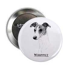 Brindle Whippet Dog Breed Button
