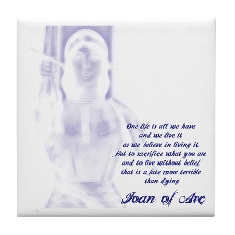 Joan of Arc - One Life Tile Coaster