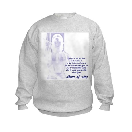 Joan of Arc - One Life Kids Sweatshirt