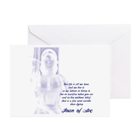 Joan of Arc - One Life Greeting Cards (Pk of 10)