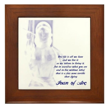 Joan of Arc - One Life Framed Tile
