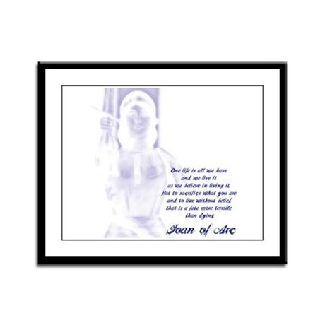 Joan of Arc - One Life Framed Panel Print