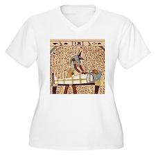 Funerary Anubis Plus V-Neck Tee (White)