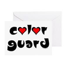 Color Guard Hearts Greeting Card