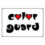 Color Guard Hearts Banner