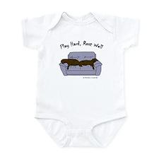 lab gifts - choco/choco Infant Bodysuit