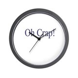 Oh Crap Wall Clock