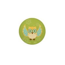 Bohemian Owl - Mini Button (10 pack)
