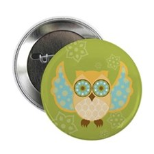 "Bohemian Owl - 2.25"" Button"