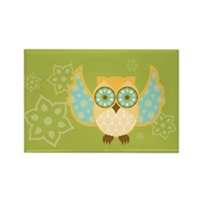 Bohemian Owl - Rectangle Magnet