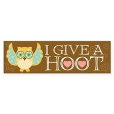 Bohemian Owl - Bumper Car Sticker