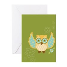 Bohemian Owl - Greeting Cards (Pk of 10)