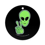 Peace Alien Ornament (Round)