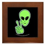 Peace Alien Framed Tile