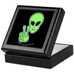 Peace Alien Keepsake Box