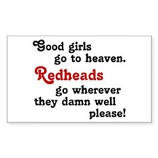 Goodgirls & Redheads Rectangle Decal