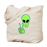 Peace Alien Tote Bag