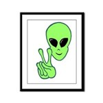 Peace Alien Framed Panel Print