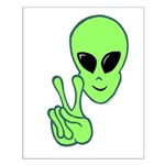 Peace Alien Small Poster