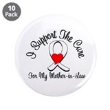 Lung Cancer (MIL) 3.5&quot; Button (10 pack)