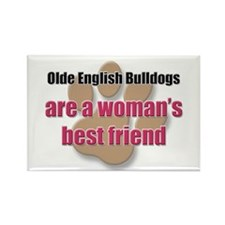 Olde English Bulldogs woman's best friend Rectangl
