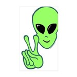 Peace Alien Sticker (Rectangle 10 pk)